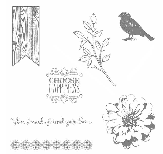 Choose Happiness Clear-Mount Stamp Set