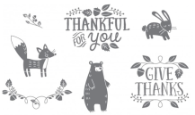 Clear Stamps Thankful Forest Friends
